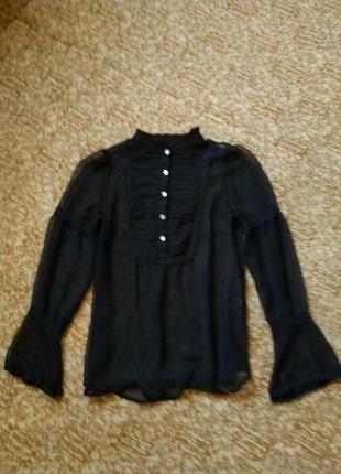 Красивая шифоновая блуза с воланами