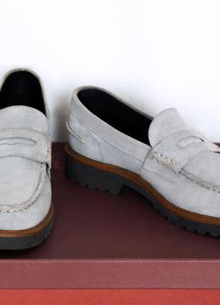 Мужские лоферы туфли натуральный замш кожа gianni russo