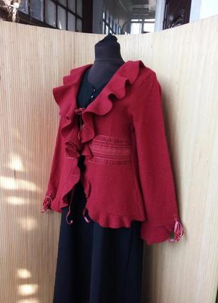Шерстяной женственный жакет / куртка  m/l
