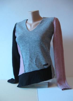 Комбинированный джемпер-свитер - мягкий и теплый!