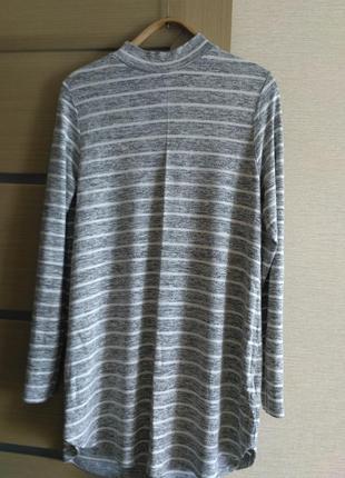 Полосатая туника-свитер из вискозы