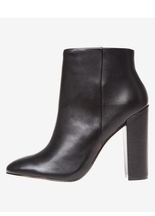Aldo оригинал черные кожаные ботильоны на широком каблуке бренд из сша