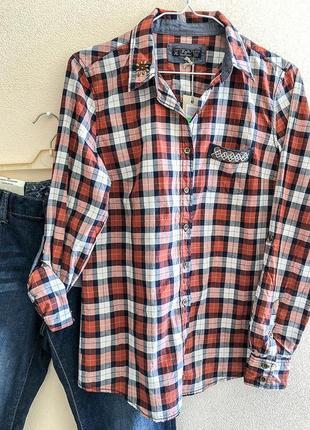 Супер-рубашка в ковбойском стиле из тонкого хлопка