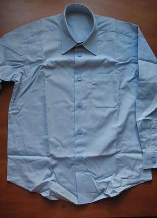 Новая школьная рубашка голубая, 6-7-8 лет, george, англия