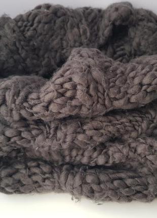 Очень тёплый снуд шарф
