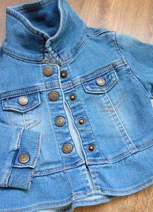 Big sale! стильный джинсовый пиджак кофта bluezoo на 0-3 мес большемерит