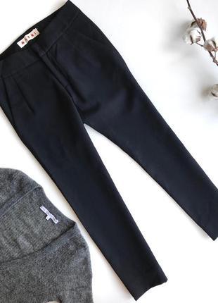 Укороченные брюки marni на высокой посадке