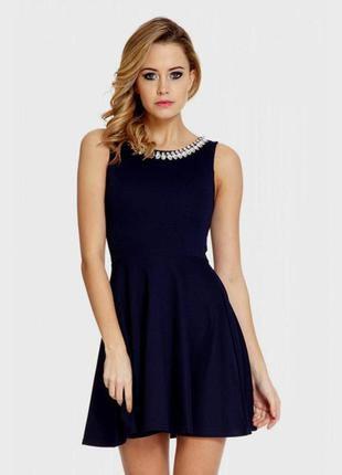 Элегантное жаккардовое платье англия, бренд quiz