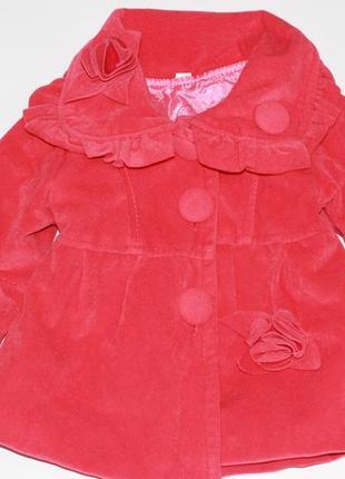 Бархатное красное пальто