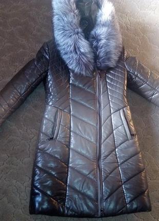 Пуховик, пальто с натуральным мехом