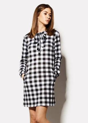 Удобное осеннее платье размер 46 (м)