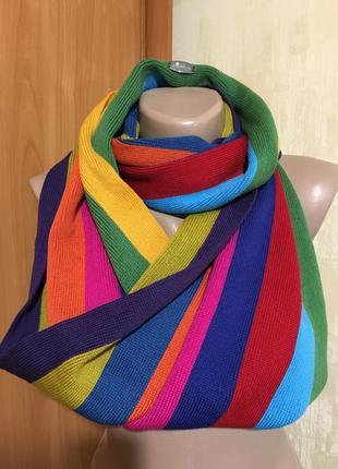 Шерстяной хомут,шарф «радуга»