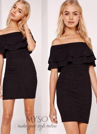 Коктейльное платье с оголенными плечами missguided