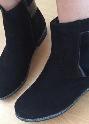 Стильные ботинки эко замша