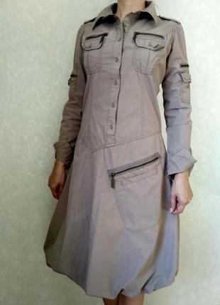 Платье-баллон бренд kenvelo стиль милитари