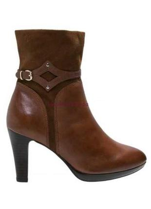 """Р.41 """"caprice"""", германия, 100% натуральная кожа! изысканные сапоги ботинки ботильоны"""