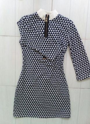 Стильное платье valeri style с змейкой спереди. 38р