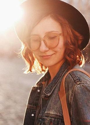 Уценка! коричневые трендовые полупрозрачные большие очки новинка гранды массивные