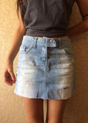Юбка мини sophie джинсовая