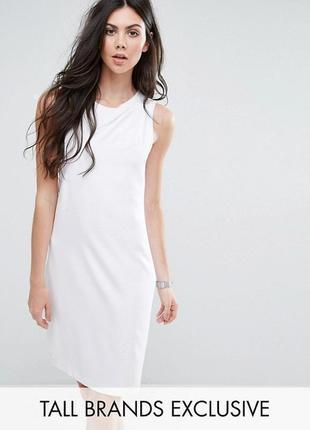 Распродажа! платье-футляр без рукавов с плиссировкой спереди y.a.s tall alberte