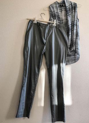 Серые, прямые, повседневные брюки geox