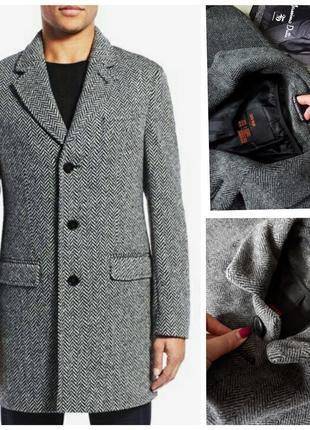 Шерстяное пальто zara men,тренч,жакет,плащ,классическое,кэжуал xl