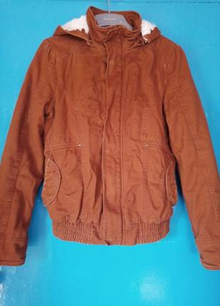 Очень теплая куртка рыжая