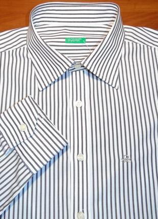 Benetton шикарная рубашка - s - m