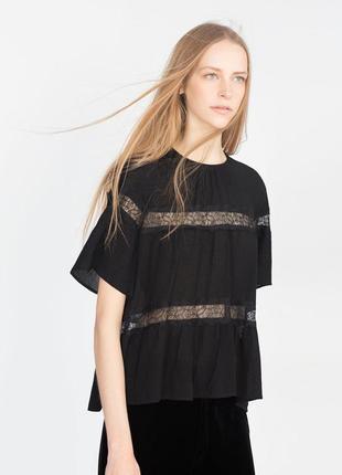 100%вискоза...красивая блуза zara s/m