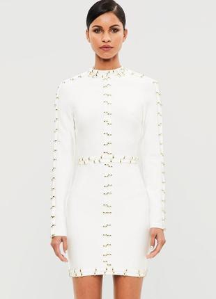 Премиальное бандажное платье с люверсами missguided msg003