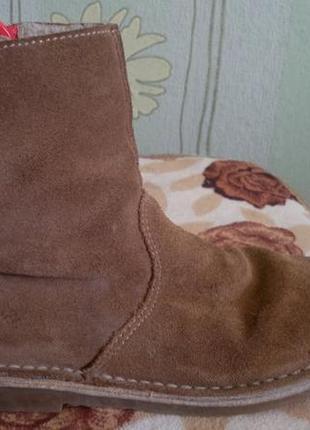Замшевые сапожки, сапоги демисезонные на девочку, ботинки, весна-осень, замш