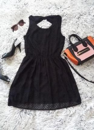 Шифоновое платье в горошек h&m