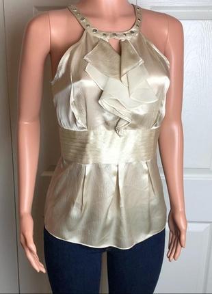 Натуральная шелковая блузка американского бренда white house black market, р. m