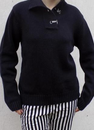 100 % ralph  lauren свитер черный хлопок без этикетки 250$