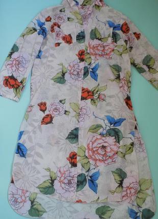 Платье рубашка хлопок италия  l/xl/xxl оверсайз 1500 грн