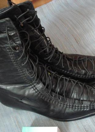 Зимние ботинки, полусапожки р.38 -39 натуральная кожа на широкую ногу