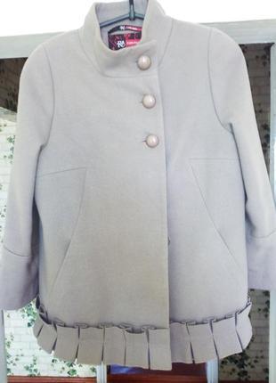 Натуральное шерстяное пальто
