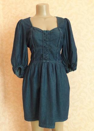Стильное джинсовое платье