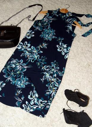 Красивое платье миди с открытой спинкой