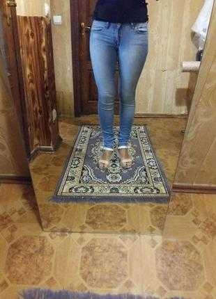 Класні джинси h&m super skinny low waist 25/30
