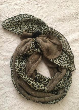 Шарф леопардовый принт