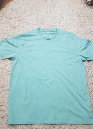Next хлопковая футболка однотонная