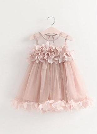 Супер красивое нарядное платье для малышки, размер 90 см розовый