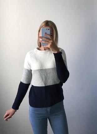 Полосатый  теплый свитер atmosphere