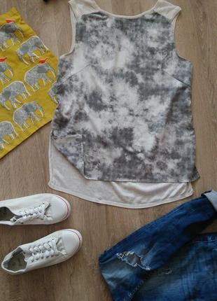 Удлиненный топ блуза от h&m