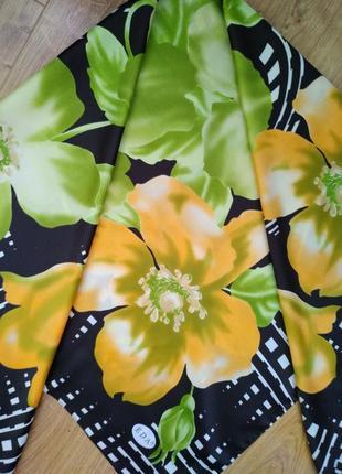 "Турецкий платок eda, ""цветы"", 93*93"
