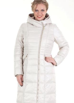Акция! зимнее женское пальто, пуховик больших размеров, батал mishele 9590-1 56 размер