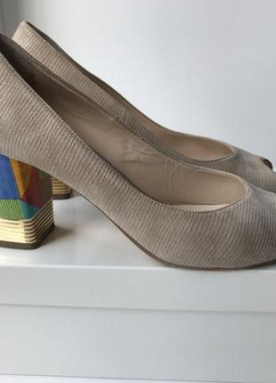 Туфли donna laura venezia с открытым носком {италия}