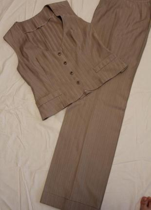 Женский костюм брюки+жилет