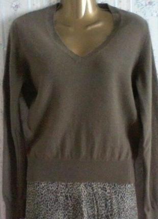 Шерстяной джемпер свитер  , разм. 44